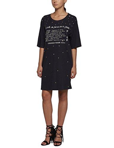 Replay Damen Kleid mehrfarbig schwarz Black