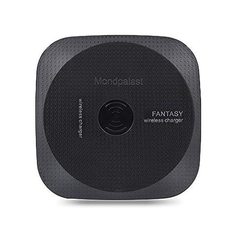Mondpalast @ Chargeur Sans Fil LED Qi Pad Chargeur Rapide sans fil chargeur à Induction pour Samsung S8 S8 Plus S7 S7 Edge S6 S6 Edge LG Nexus 5 Nokia 1520 et tous les appareils Smartphone compatibles Qi