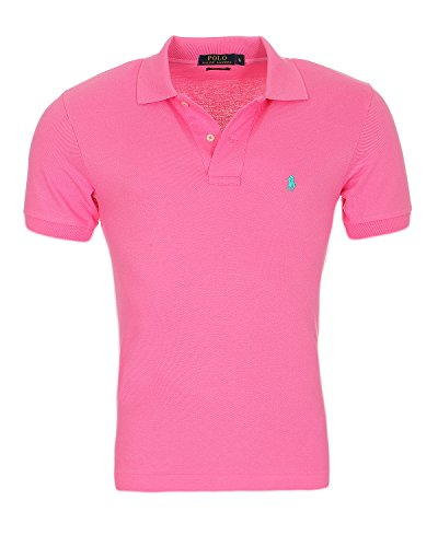 Ralph Lauren Polo Herren Poloshirt SMALL Pony Custom FIT S-M-L-XL-XXL, Original, Outletware, Größe:M, Farbe:Pink