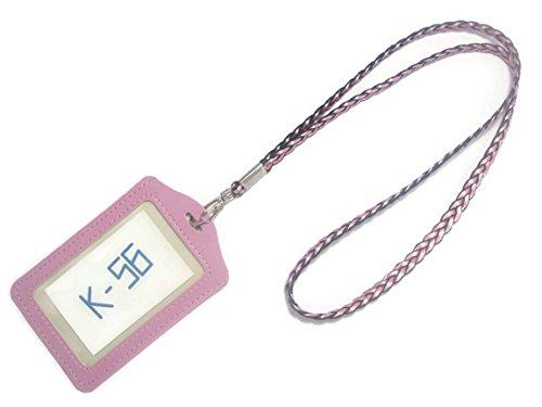 k-56Vertikal Stil PU Leder ID Badge Holder mit -