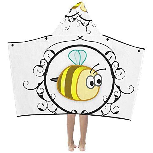 Kinder Badetücher Für Mädchen Biene Gelb Gerahmte Niedlichen Tier Design Baby Sommer Kinder Mit Kapuze Decke Badetücher Wurf Wrap Für Kleinkind Kind Mädchen Junge Zuhause Reise Schlaf Kinder Decke -