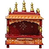 MVEE Wooden Home Temple/Pooja Mandir/Mandapam/Small Home Temple (38 cm x 20 cm x 51 cm)