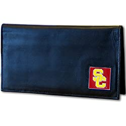 USC Trojans Deluxe Leather Checkbook Cover