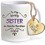 Tied Ribbons Rakshabandhan Gifts For Sister, Rakhi Gift For Sister Printed Coffee Mug With Happy Rakshabandhan Tag