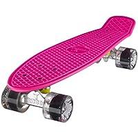 Ridge Retro Skateboard Mini Cruiser, rosa/klar, 22 Zoll