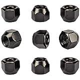 Dado per ruote, colore nero, confezione da 20, per cerchioni in acciaio