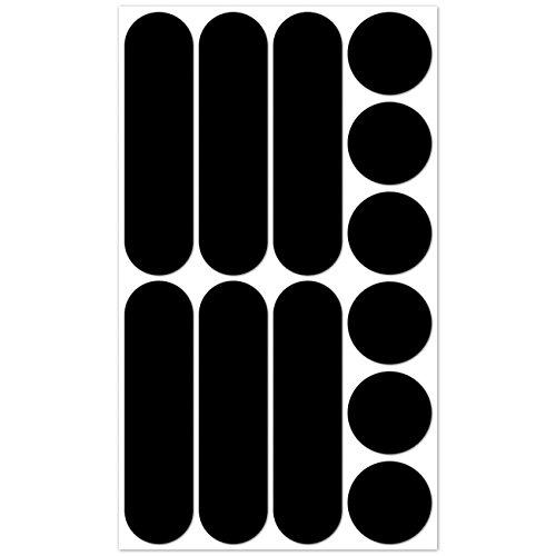 BReflective Brbikeblack Reflektierende Aufkleber 12-teiliges Set
