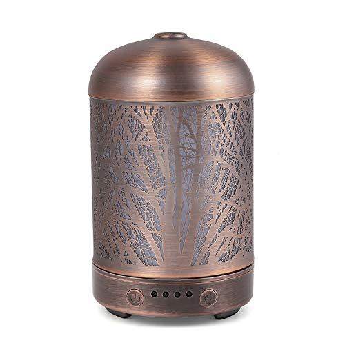 COOSA 100ml Aroma Diffusor aromatherapie Diffuser mit 4 Zeiteinstellung & 7 Farbwechsel Licht Aroma luftbefeuchter Cool Mist Luftbefeuchter für Haus Büro und SPA (Bronze 1) -