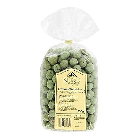 Erdnüsse Mit Wasabi Gewürz ● Würzig Scharfer Snack ● 500 g Packung ● KoRo Drogerie