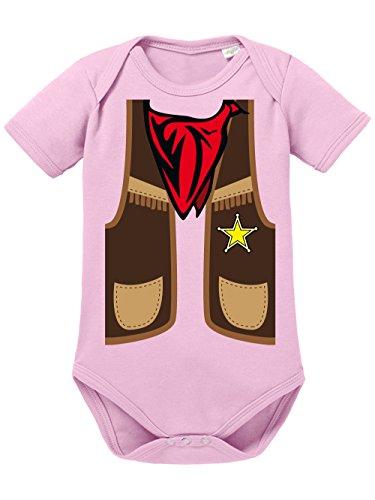 Village Kostüm People Cowboy - clothinx Baby Body Unisex Karneval 2019 Cowboy-Kostüm Hellrosa Größe 50-56