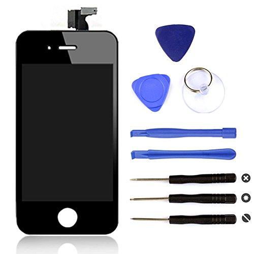 BPS Pantalla táctil LCD para iPhone 4S , con Kit de herramientas gratuito, Color Negro