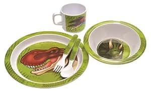 Assortiment de Vaisselle Dinosaure en plastique dur