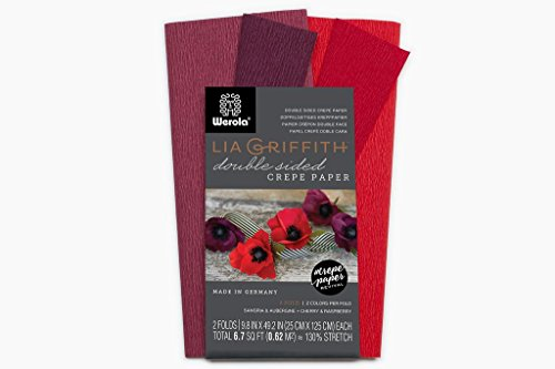 Lia Griffith Extra Fine Crepe Double Sided Paper - 4 colours per pack (Sangria, Aubergine & Cherry, Raspberry)
