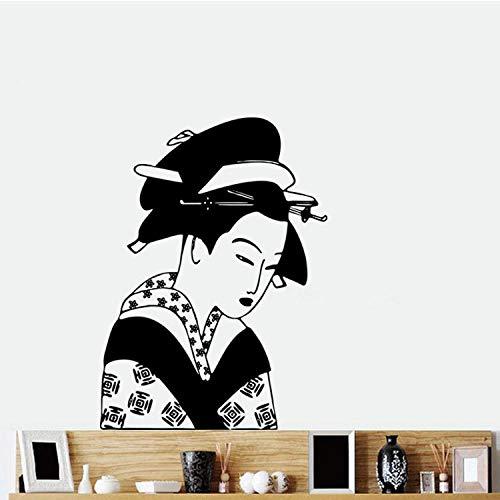 Geisha-Wandaufkleber traditioneller japanischer alter Kostümfrauenkünstlerwohnsitz-Schlafsaalaufkleber ()