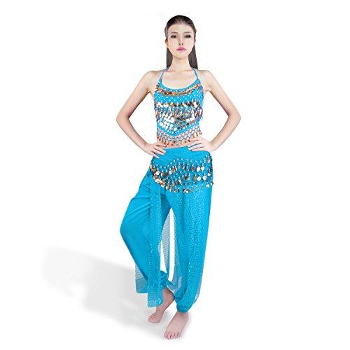 SymbolLife Bauchtanz kostüm damen indischen Tanzkleidung Tanzkostüme Halloween Karneval Muttertag...