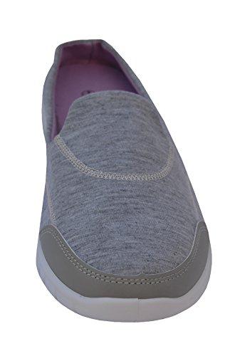 Hari Deals ,  Damen Durchgängies Plateau Sandalen mit Keilabsatz Grau