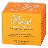 REVE Crema Facial Hialurónico y Vitamina C - Antioxidante, Luminosidad, Nutrición,...