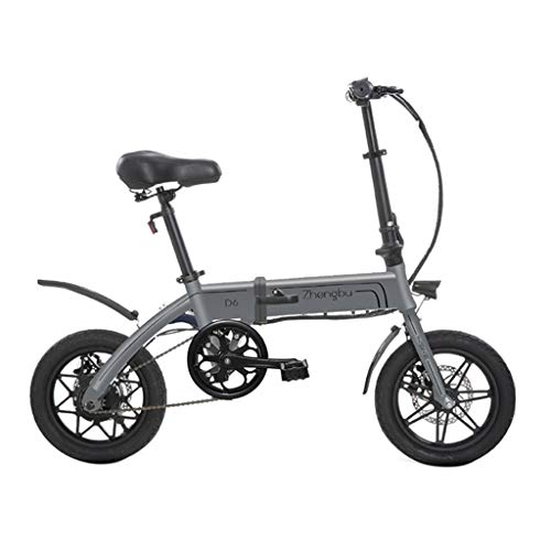 Bici elettriche Biciclette Elettriche Pieghevoli per Uomini E Donne Mini Batteria Auto Batteria al Litio Auto Elettrica, Vita Elettrica 50 Km (Color : Gray, Size : 125 * 52 * 100cm)