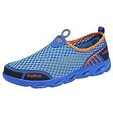 riou Zapatillas Deporte Hombre Malla Suave Transpirables Zapatos de Running para Correr Athletic Cordones Casuales Aire Libre y Deportes Calzado Negro 39-45