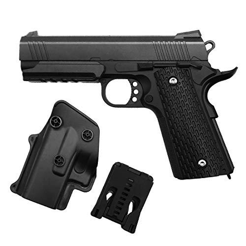 Rayline Pistola Airsoft Airsoft G25 + Full Metal (presión de Resorte Manual) Incluye Funda de cinturón, Escala 1: 1, Peso 570 g, Calibre 6 mm, Color: Negro/Negro