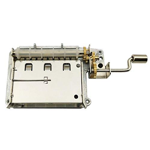 Wingostore 30 Note DIY Hand Kurbel Musik Box +Kupfer Getriebe+ 10 x Refill blanko Papier Streifen Reifenplatzer für eigenen Songs -