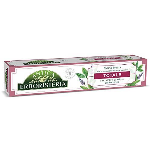 antica erboristeria dentifricio antibatterico totale antiplacca con ingredienti naturali, gusto salvia e menta, 1 x 75 ml