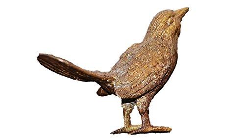 Vogel aus Bronze, Spatz, Frostfest