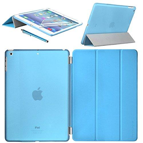 Swees® Apple iPad mini / iPad mini Retina / iPad mini 3 Display Smart Cover und TPU Back Hülle Cover Case Schutzhülle Etui Tasche, Unterstützt Sleep / Wake Funktion+ Displayschutzfolie & Stylus (Eingabestift) - Blau