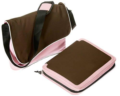 T 17 BAG Notebooktasche Laptoptasche * Messenger mit entnehmbarer Laptoptasche * Neu * 17 ZOLL * ROSA PINK BRAUN (17-zoll-widescreen Laptop-tasche)
