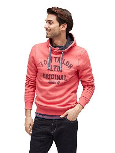 TOM TAILOR Herren Kapuzenpullover On Stock Sweater Rot (Fantastic Red 4797)