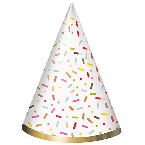 Unique Party 72591 Donut - Sombreros de fiesta, 8 unidades