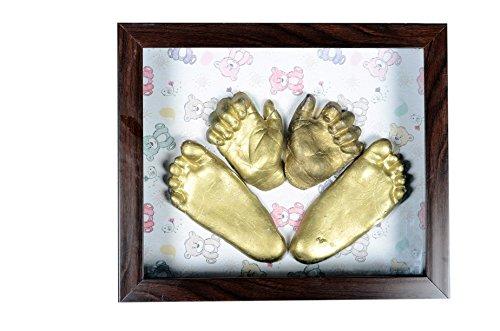 Raj Plaster Gravelart Baby Impression Kit - DO-IT-YOURSELF (UNISEX) - Metallic Gold