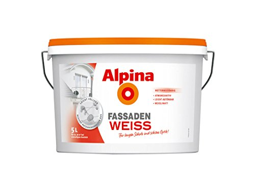Alpina FassadenWeiss Fassadenfarbe 5 L