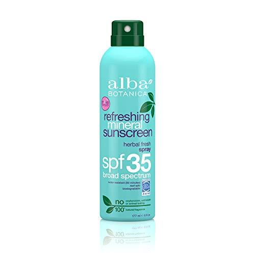 Alba Botanica Very Emollient Mineral Spray Sunscreen SPF 35, Herbal Fresh, 6 Ounce by Alba Botanica