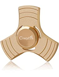 Finger Spinner Metal CrazyFire Hand Spinner Fidget Toy,Triangle EDC Enfant ou Adulte pour Stress Reliever Reducer - Aluminium(Or)