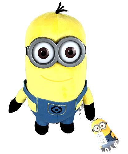 Minion Plüschfigur Kevin mit Kunststoff Augen und Brille, ca. 25cm (Kevin) (Mit Minion Brille)