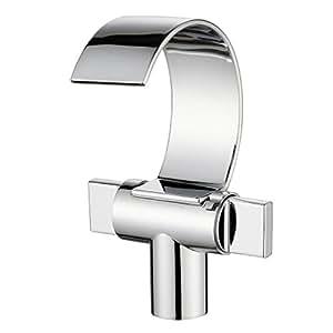 Auralum® Rubinetto Miscelatore per lavabo rubinetto per lavabo punto interrogativo cascata cromo