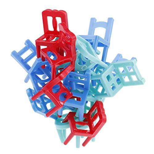 7thLake 18 Stücke Bunte Balance stapelstühle Spiel Stühle Kunststoff Balance Spielzeug Stapelstühle für Kinder Bildung Spiel Spiel Spielzeug - Spielzeug Kinder Stapeln