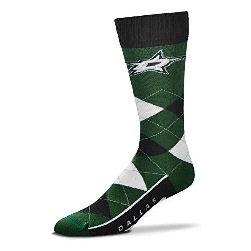 Acryl-sport-team Sock (Für Bare Feet Herren NHL Argyle Lineup Crew Kleid Socks-One Größe Passend für die Meisten, Herren, Dallas Stars, One Size Fits Most)