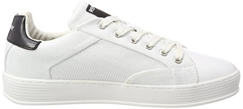 Replay Alvin, Sneakers Basses Homme Multicolore (White Black)