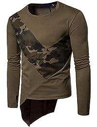 hlh Camouflage Mesh Stitching Herren Casual LangäRmliges T-Shirt Herren  High Street Hooded Sweater 2dee86b534