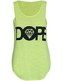 Mix lot de femmes Dope diamant slogan imprimé stretch dames cou manches ronde T-shirt gilet de haut des femmes taille 36-42