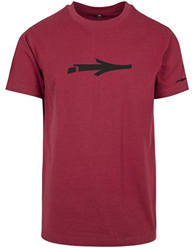 Graffiti Logo T-shirt (ILLMATIC Herren T-Shirt Nerv Tee, Farbe red, Größe L)