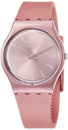 Swatch Damen Analog Quarz Uhr mit Silikon Armband GP154