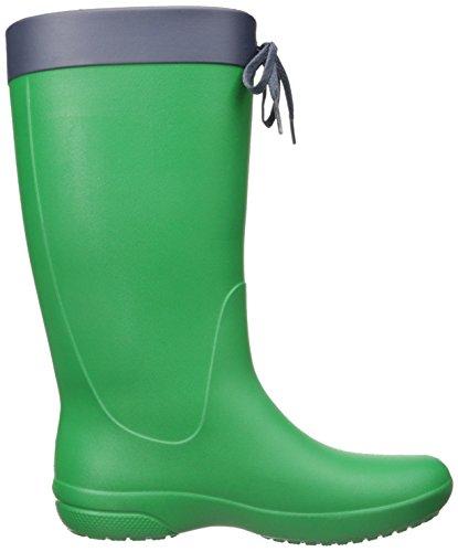 Crocs - Crocs Freesail Rain Boot, Stivali alti con imbottitura leggera Donna Verde (Kelly Green)