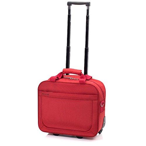 Trolley piloto Mondrian Gladiator de 24 litros (Rojo)
