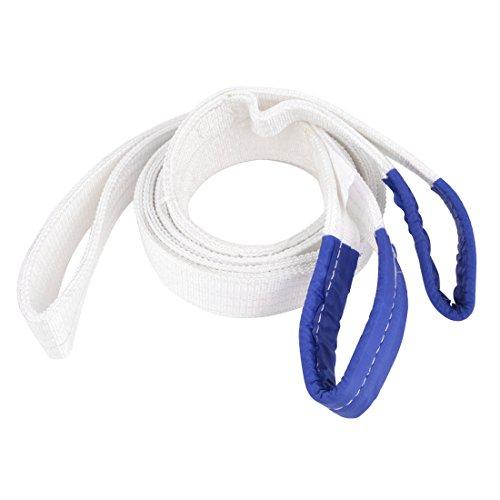 sourcingmap® 4m x 60mm 2 Ton oeil à œil bracelet récupération sangle de remorquage