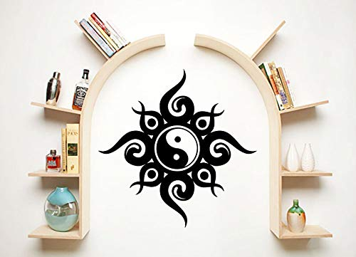 zhuziji Speziell gestaltete Wandaufkleber Chinese Ying Yang Religiöse Serie Dekorative Kunst Wandtattoo Home Zimmer Dekor Poste 86x86 cm