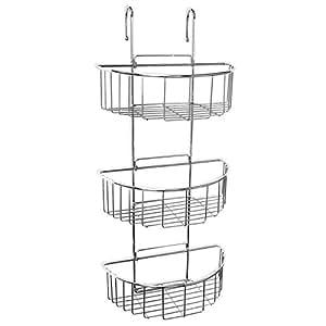 sanixa ta4437400 duschregal zum einh ngen silber 3 ablagen rostfrei messing duschablage. Black Bedroom Furniture Sets. Home Design Ideas