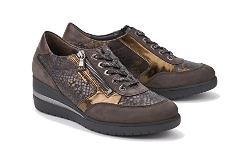 Mobils Womens Patrizia Nubuck Shoes Dark Brown